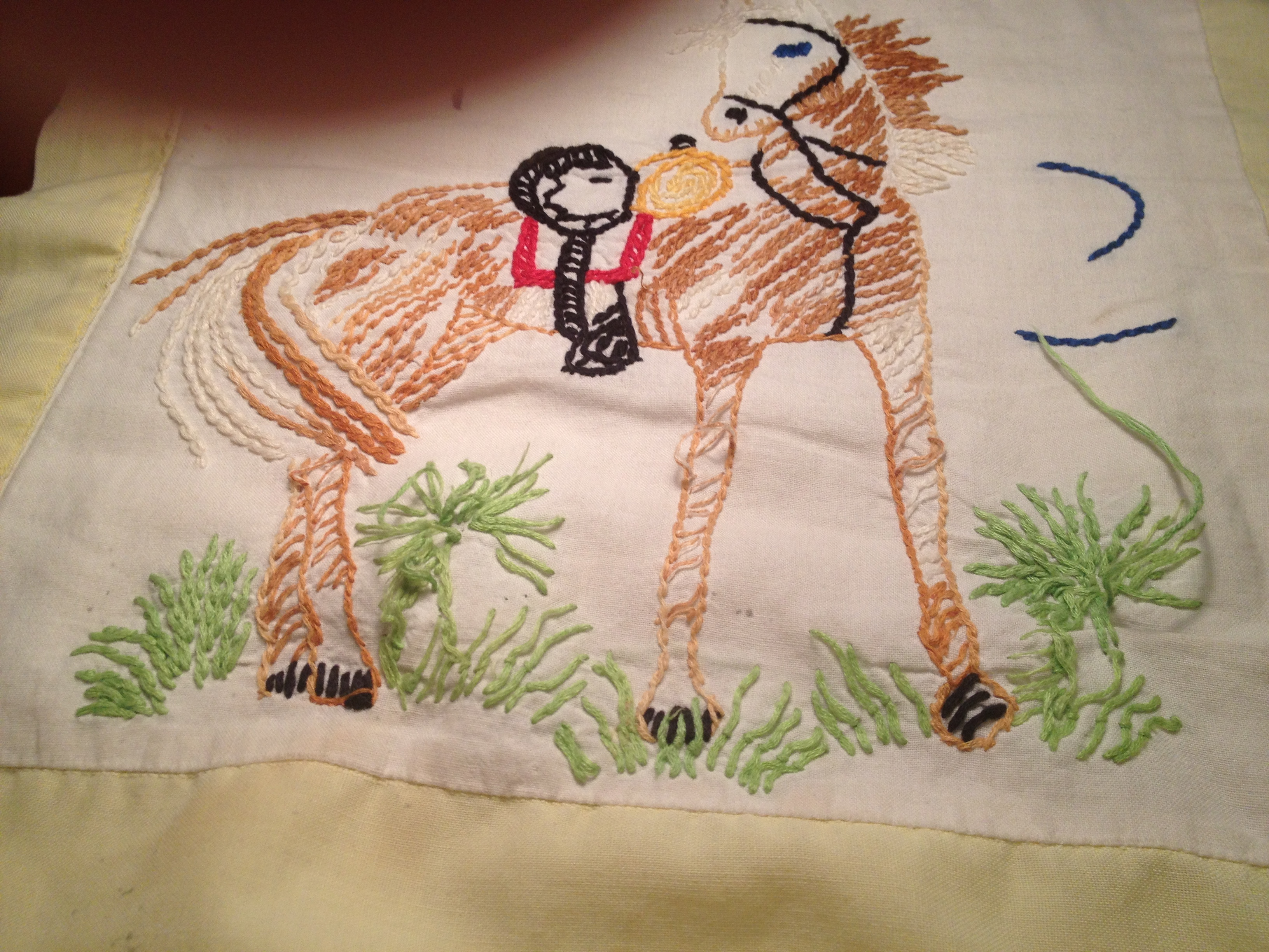 Horse quilt repairs.